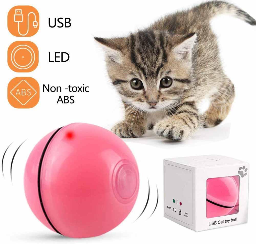 Juguete interactivo para gatos DIWUJI Bola