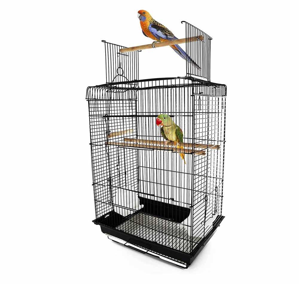 Jaula para pájaros Pawhut Techo Abierto